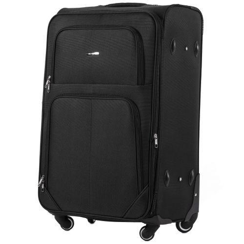 Набор тканевых чемоданов Wings Junco 214 на 4 колесах 3 штуки черный