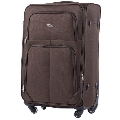 Набор тканевых чемоданов Wings Junco 214 на 4 колесах 3 штуки кофейный