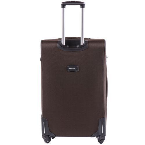Тканевый чемодан Wings Junco 214 большой на 4 колесах кофейный