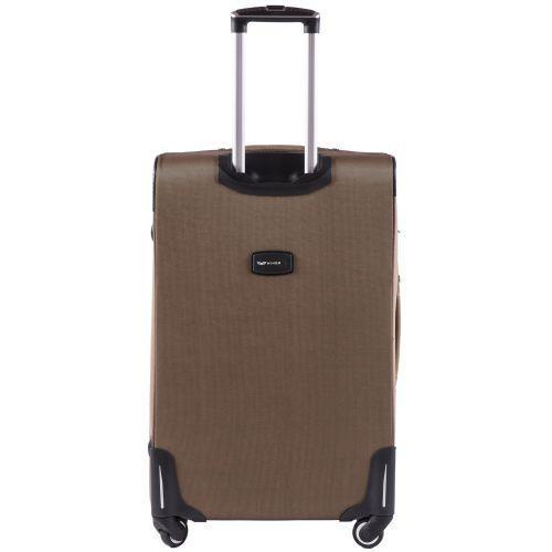 Тканевый чемодан Wings Junco 214 большой на 4 колесах коричневый