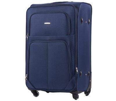 Тканевый чемодан Wings Junco 214 большой на 4 колесах синий