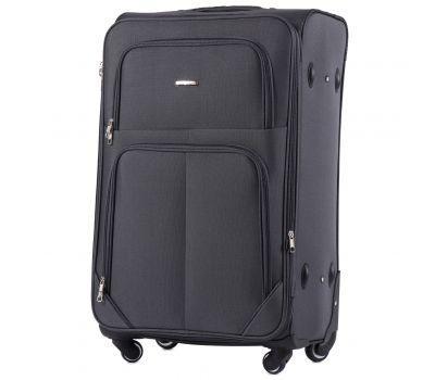 Тканевый чемодан Wings Junco 214 большой на 4 колесах серый