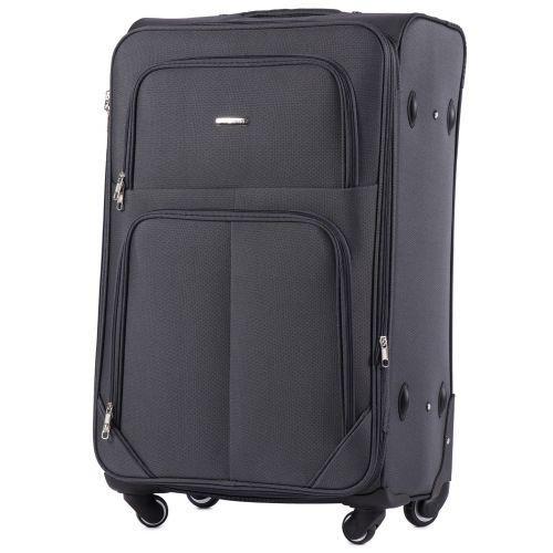 Набор тканевых чемоданов Wings Junco 214 на 4 колесах 3 штуки серый