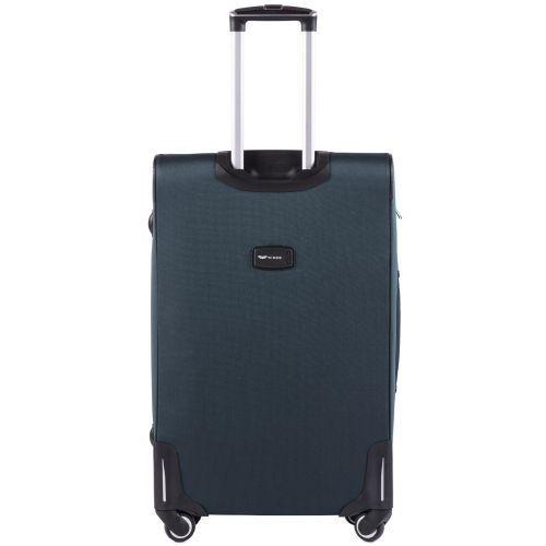 Тканевый чемодан Wings Junco 214 большой на 4 колесах зеленый