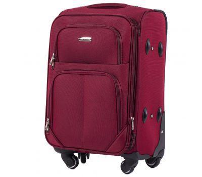 Тканевый чемодан Wings Junco 214 маленький на 4 колесах бордовый