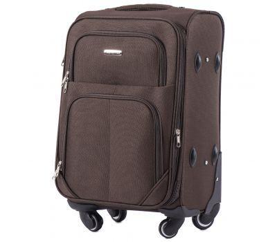 Тканевый чемодан Wings Junco 214 маленький на 4 колесах кофейный