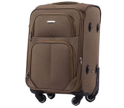 Тканевый чемодан Wings Junco 214 маленький на 4 колесах коричневый