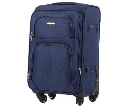 Тканевый чемодан Wings Junco 214 маленький на 4 колесах синий