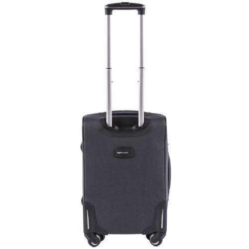 Тканевый чемодан Wings Junco 214 маленький на 4 колесах серый