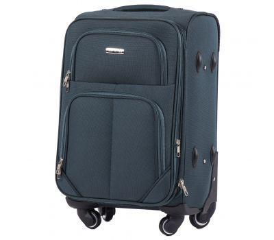 Тканевый чемодан Wings Junco 214 маленький на 4 колесах зеленый