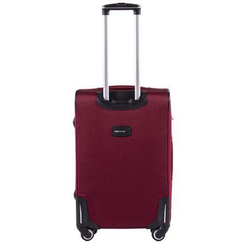 Тканевый чемодан Wings Junco 214 средний на 4 колесах бордовый