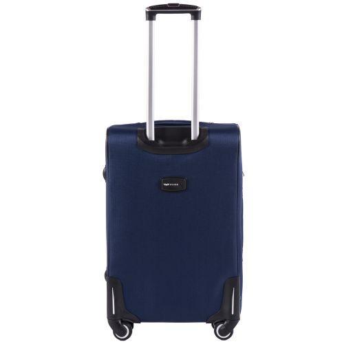 Тканевый чемодан Wings Junco 214 средний на 4 колесах синий