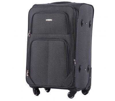 Тканевый чемодан Wings Junco 214 средний на 4 колесах серый