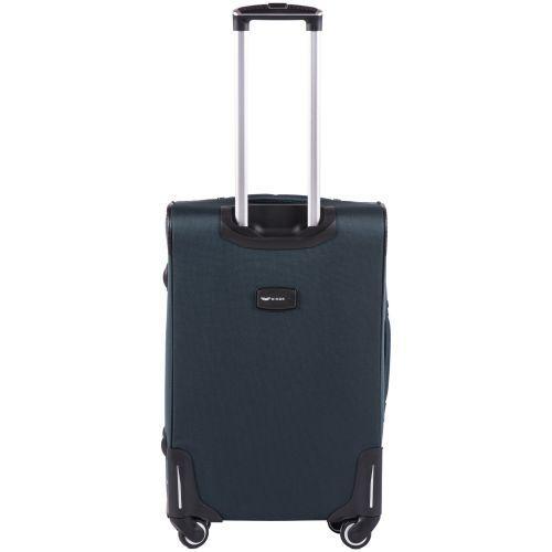 Тканевый чемодан Wings Junco 214 средний на 4 колесах зеленый
