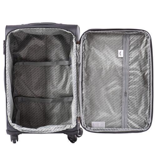 Тканевый чемодан Wings Junco 214 маленький на 4 колесах черный