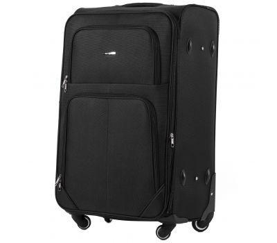 Тканевый чемодан Wings Junco 214 большой на 4 колесах черный