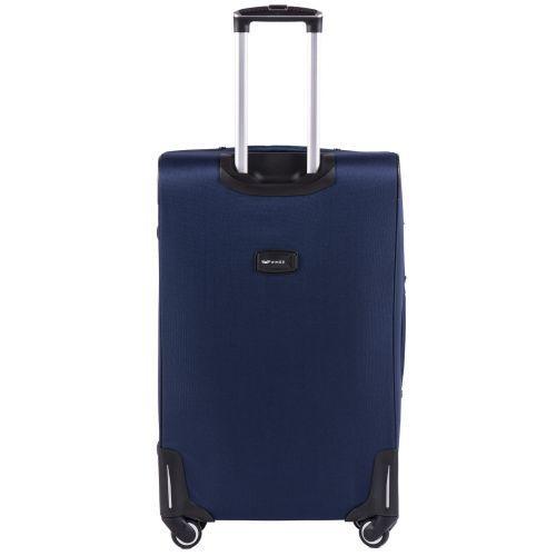 Набор тканевых чемоданов Wings Junco 214 на 4 колесах 3 штуки синий