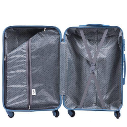 Дорожный чемодан на колесах Wings Linnet 203 средний серебряный