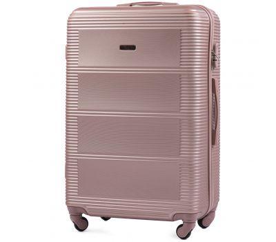 Дорожный чемодан на колесах Wings Linnet 203 большой розовое золото