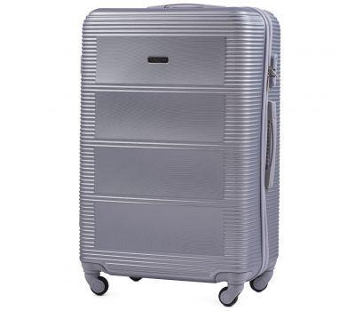 Дорожный чемодан на колесах Wings Linnet 203 большой серебряный