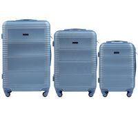 Комплект дорожных чемоданов на колесах Wings Linnet 203 3в1 голубой