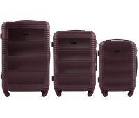 Комплект дорожных чемоданов на колесах Wings Linnet 203 3в1 бордовый