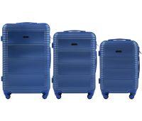 Комплект дорожных чемоданов на колесах Wings Linnet 203 3в1 middle blue