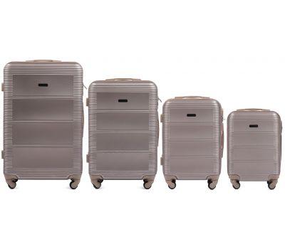 Комплект дорожных чемоданов на колесах Wings Linnet 203 4в1 шампань
