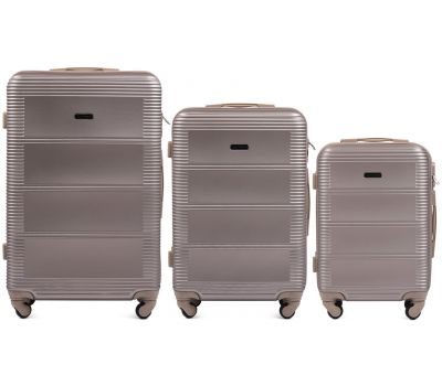 Комплект дорожных чемоданов на колесах Wings Linnet 203 3в1 шампань