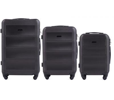 Комплект дорожных чемоданов на колесах Wings Linnet 203 3в1 серый
