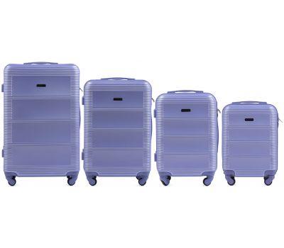 Комплект дорожных чемоданов на колесах Wings Linnet 203 4в1 светло-фиолетовый