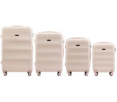 Комплект дорожных чемоданов на колесах Wings Linnet 203 4в1 ванильный