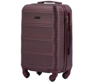 Дорожный чемодан на колесах Wings Linnet 203 маленький бордовый