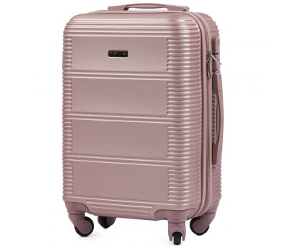 Дорожный чемодан на колесах Wings Linnet 203 маленький розовое золото
