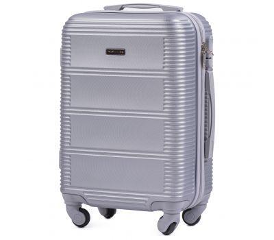 Дорожный чемодан на колесах Wings Linnet 203 маленький серебряный