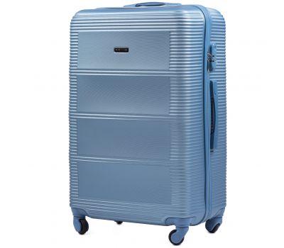 Дорожный чемодан на колесах Wings Linnet 203 средний голубой