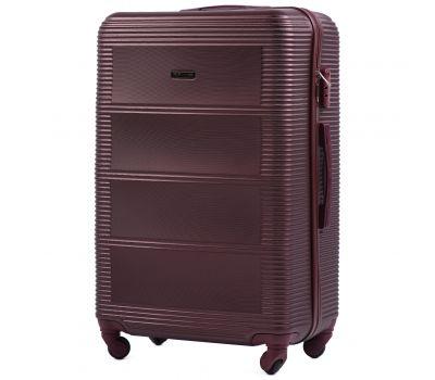 Дорожный чемодан на колесах Wings Linnet 203 средний бордовый