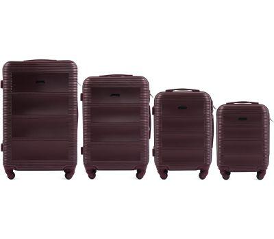 Комплект дорожных чемоданов на колесах Wings Linnet 203 4в1 бордовый