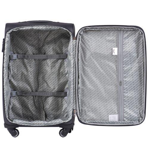 Набор тканевых чемоданов Wings Little Owl 1609 3 штуки на 4-х колесах синий
