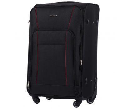 Тканевый чемодан Wings Little Owl 1609-4L большой на 4-х колесах черный