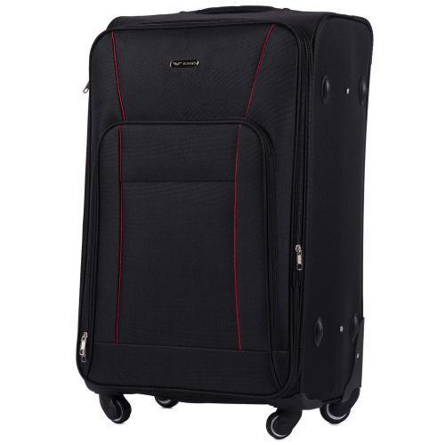 Набор тканевых чемоданов Wings Little Owl 1609 3 штуки на 4-х колесах черный