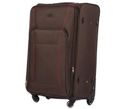 Тканевый чемодан Wings Little Owl 1609-4L большой на 4-х колесах кофейный