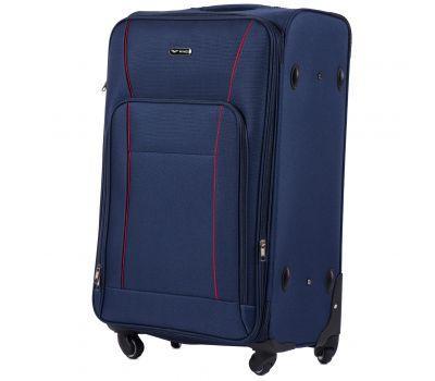 Тканевый чемодан Wings Little Owl 1609-4L большой на 4-х колесах синий