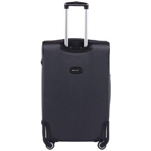 Тканевый чемодан Wings Little Owl 1609-4L большой на 4-х колесах серый