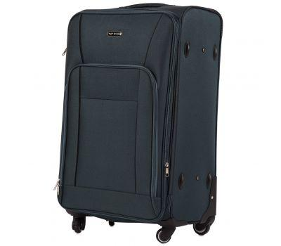 Тканевый чемодан Wings Little Owl 1609-4L большой на 4-х колесах зеленый