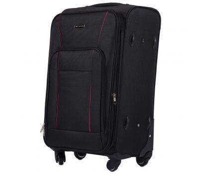 Тканевый чемодан Wings Little Owl 1609-4M средний на 4-х колесах черный