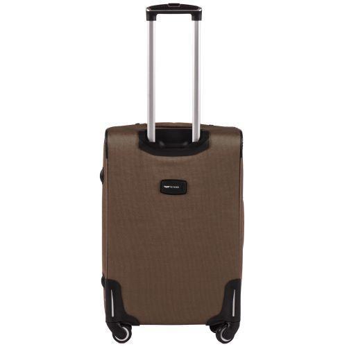Тканевый чемодан Wings Little Owl 1609-4M средний на 4-х колесах коричневый