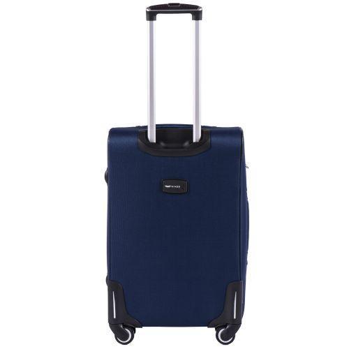 Тканевый чемодан Wings Little Owl 1609-4M средний на 4-х колесах синий