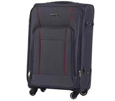 Тканевый чемодан Wings Little Owl 1609-4M средний на 4-х колесах серый