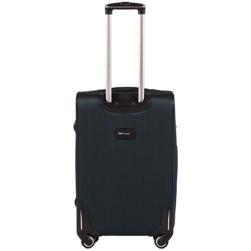 Тканевый чемодан Wings Little Owl 1609-4M средний на 4-х колесах зеленый